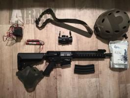 Airsoftová zbraň MK110 + vybavení