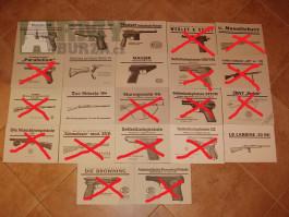 Návod manuál P08, Mauser 98, C96, P38, Walther PP/PPk, CZ27 i v PDF