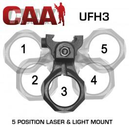 Montáž na svítilnu CAA, 1' (25,4mm), na Weaver/Picatinny
