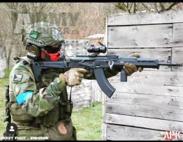 AKM Magpul PTS Zhukov, sklopná pažba, ocel, Black, Cyma, CM.077A