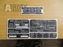 Štítky na vlek M 416 Ford Mutt