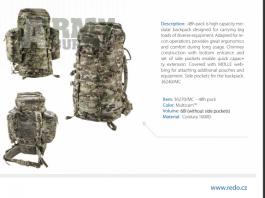 WTS: 48H Pack 60L Coyote od REDO.CZ - 4500,- (Prostějov/Slavičín)