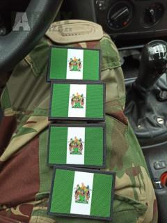 Patch vlajka Rhodesie, Velcro nášivka