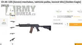 Airsoft zbraň Ch AK-105_Nová