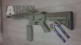 M4 URX3 CQB, plast, TAN, Cyma, CM.516 + baterka a zasobnik