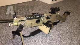 FN M249 (A&K) full UPG a Dboy SCAR-L upg