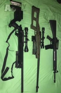 Airsoft Zbraně Odstřelovací zbraně a útočná puška