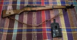 Airsoft zbran M1 Garand drevo-kov,ICS,+príslušenst