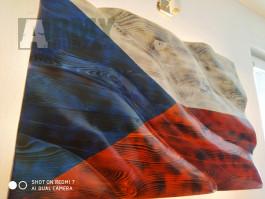 Dřevěná Česká vlajka 3D