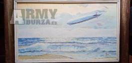 Obraz Josef Seidler: Graf Zeppelin uber Kanal