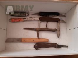 7 x kapesní nůž z vojenské techniky ČSLA