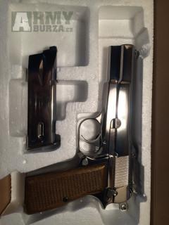 Airsoftová pistole Browning Hi-Power - nikl, celokov, GBB, WE