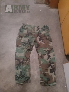 Kalhoty protichemické US woodland