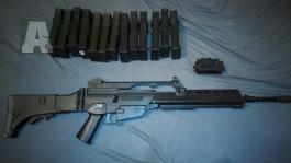 prodám G36 od classic army + 12 zásobníků a adaptér na M4 zásobníky