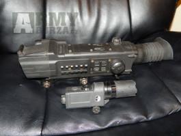 Noční puškohled Pulsar s přisvítem