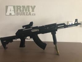 Prodám zánovní celokovovou airsoft zbraň AK-47 RIS Tactical