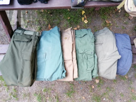 Kalhoty Helikon vel S. 2x BDU, 1x M65, Mil-tec Softshell S