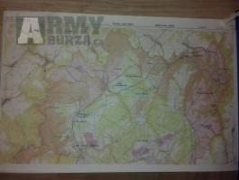 Vojenskou mapu VVP Libavá,