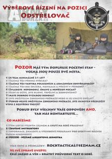 Výběrové řízení na pozici - Odstřelovač