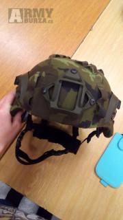 Balistická helma MICH MID Rails + NVG