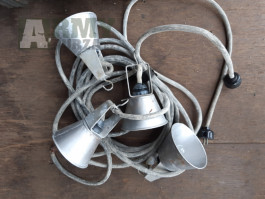 4 světla lampičky - z výstroje ČSLA, výroba SSSR