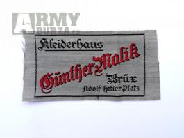 """Originální štítek na uniformu """"Adolf Hitler Platz"""" Brüx Most"""