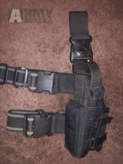 Stehenní pistolové pouzdro Glock 19 pro leváka