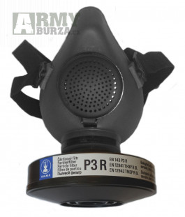 Ochranná polomaska PM-1 + částicový filtr Sigma P3R (vakuové army balení) d.v. 2020