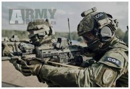 OpsCore/FAST potah na helmu highcut ATACS FG polských speciálních sil