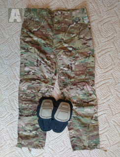 US bojové kalhoty MultiCam + integrované kolenní chrániče
