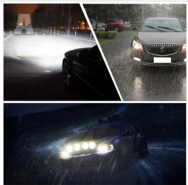 Led Xenon H7 , H1 nebo H4 , HB3 s větráčkem- nová generace supersvítivých LED