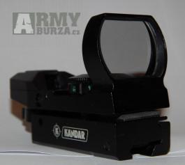 Kvalitní otevřený KOLIMATOR odolný montáž 22mm nebo 11mm