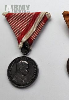 RU - Stříbrná medaile za statečnost Karel