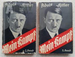 Mein Kampf - dvojknižní vydání, raritní rok 1933