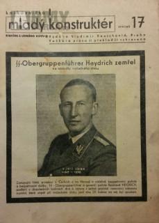 Noviny Atentát, Heydrich zemřel - pěkný originál