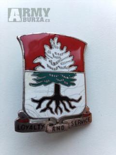 Druhoválečný smaltový odznak 341.ženijního pluku US army