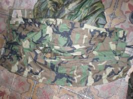US ARMY woodland WDL rain kalhoty  WET WEATHER rainsuit