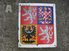Smaltovaná cedule státní znak