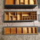 Dřevěná vojenská bedýnka 47 x 13,5 x 12,5 cm