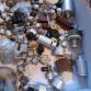 Směs drobných elektrosoučástek z vojenské techniky
