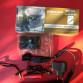 Profi taktická LED baterka tlačitkový spínač a spínač na pažbu, montaže na hlaven/optiku, 2 nabiječky 230V a 12V