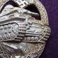 Odznak tankových jednotek stříbrný. Adolf Scholze.
